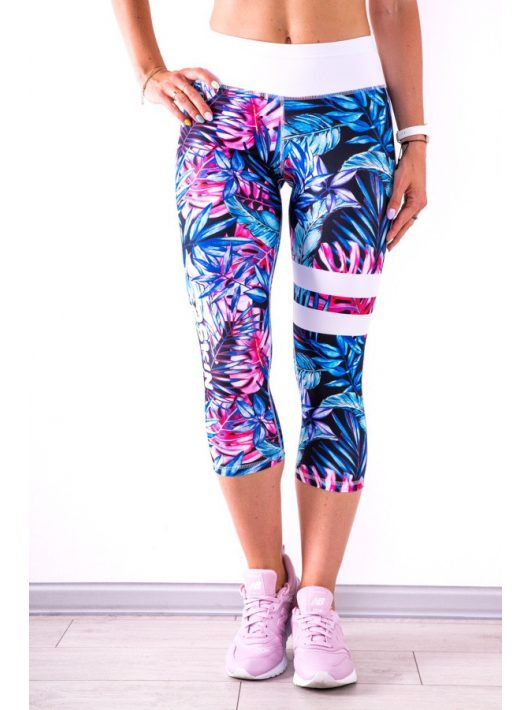 BLUE TROPICANA Capri Leggings